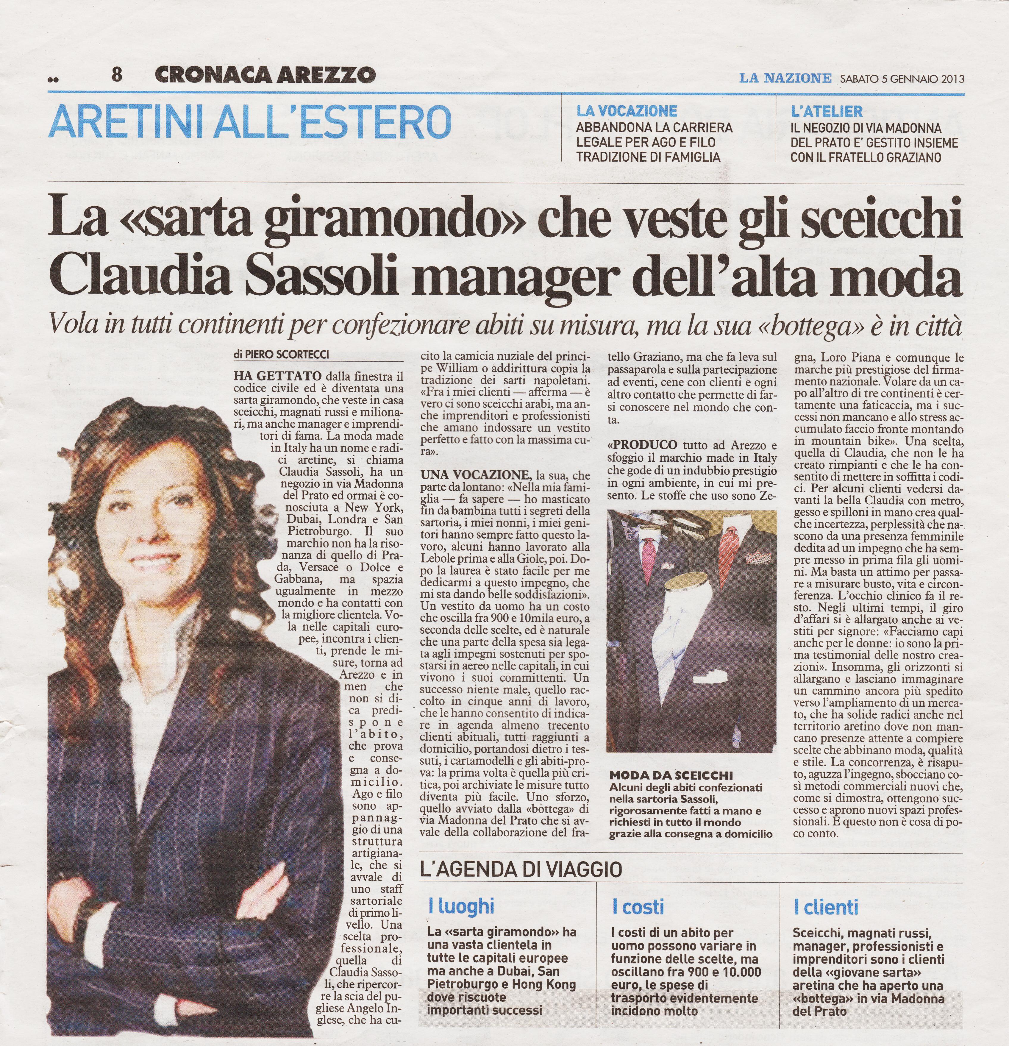 5 Gennaio 2013 – La Nazione